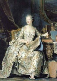 Madame de Pompadour by Quentin de la Tour